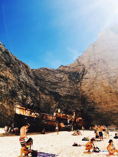 People And Places Shipwreck Cove Navagio Beach Greece