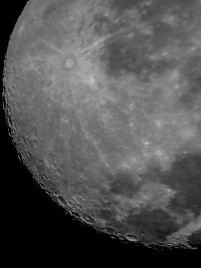 Tycho Crater Moonbeauty Reflector Telescope Moon Surface Wow!!😋 Astrophotography Special👌shot Spectacular View Craters Of The Moon Waning Gibbous Moongazing Moon Shots Telescopes Telescope Celestron Nightphotography Planets Moon Lunar Surface Night Photography