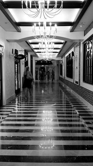 Modern City Life Electric Light Steps