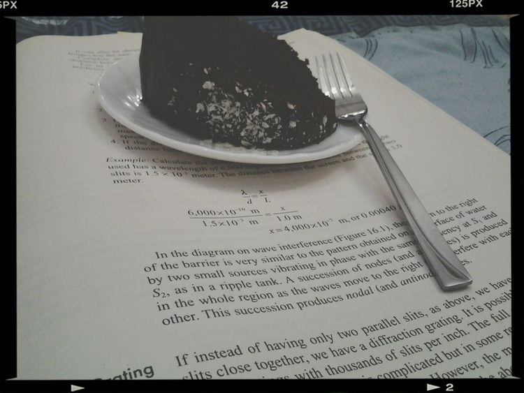 Studying Sat with some Yummy Cake . SATStudent