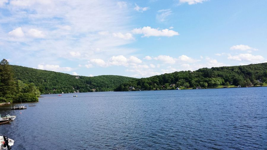 USA Connecticut Tree Lake Cloud - Sky Landscape Sky Water No People Tranquility Outdoors Forest Pinaceae Day Nature Beauty In Nature Scenics Mountain Tree Area Animal Themes Politics And Government