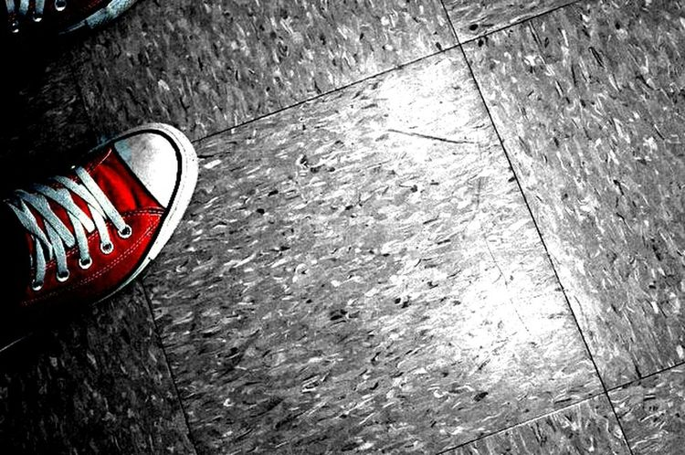 Black And White Red Converse Color Splash I Love Converse