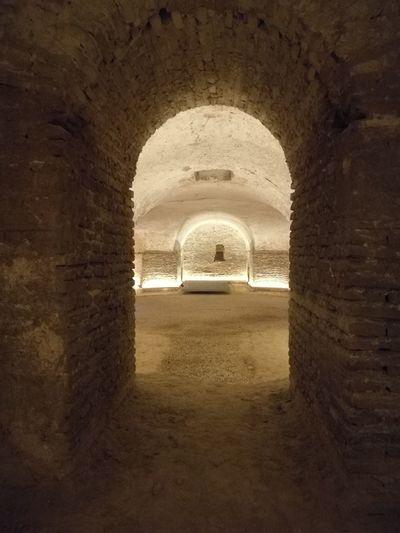 Sevilla Spain Miarma Sanluisdelosfranceses Cripta Architecture Tunnel Historic Arch Interior Historic Building