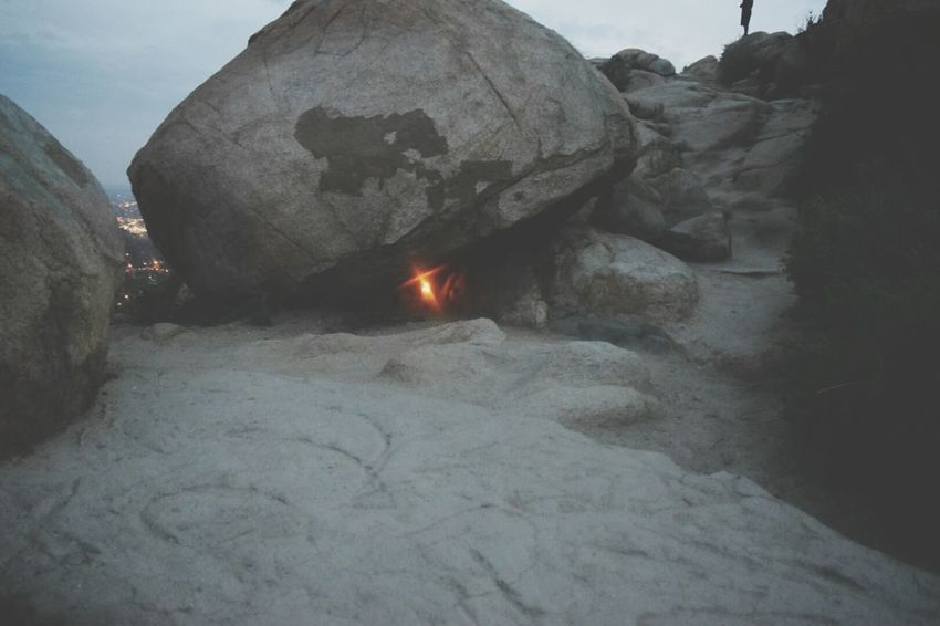 Little light Light Under Rock RockLand Mt . Rubidoux Mt. Top