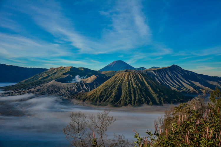 Landscape of mount bromo indonesia