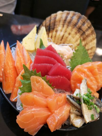 Food Food And Drink Seafood Healthy Eating Freshness Ready-to-eat Fish Wellbeing Asian Food Close-up Japanese Food Indoors  Salmon - Seafood Plate Sushi No People Rice Animal Sashimi  Caviar Tray