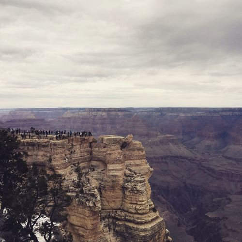 Scenic View Of Rocky Mountains At Grand Canyon
