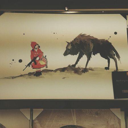 Nya Lilla Rödluvan... Gallerix, Solna Konst Art
