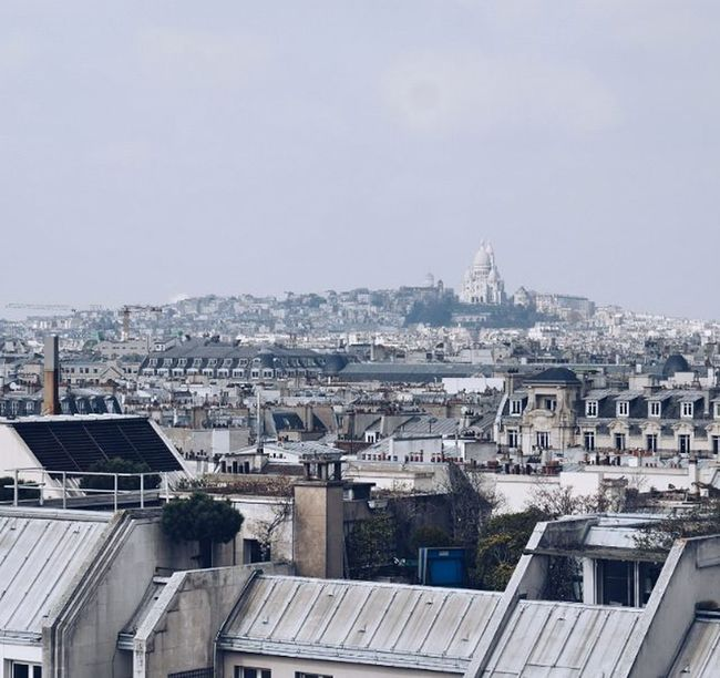 Rooftops of Paris. Shot from top of Pompidou with view on Montmartre and Sacrecoeur ; France Paris Rooftops View Amaizing CityOfLights