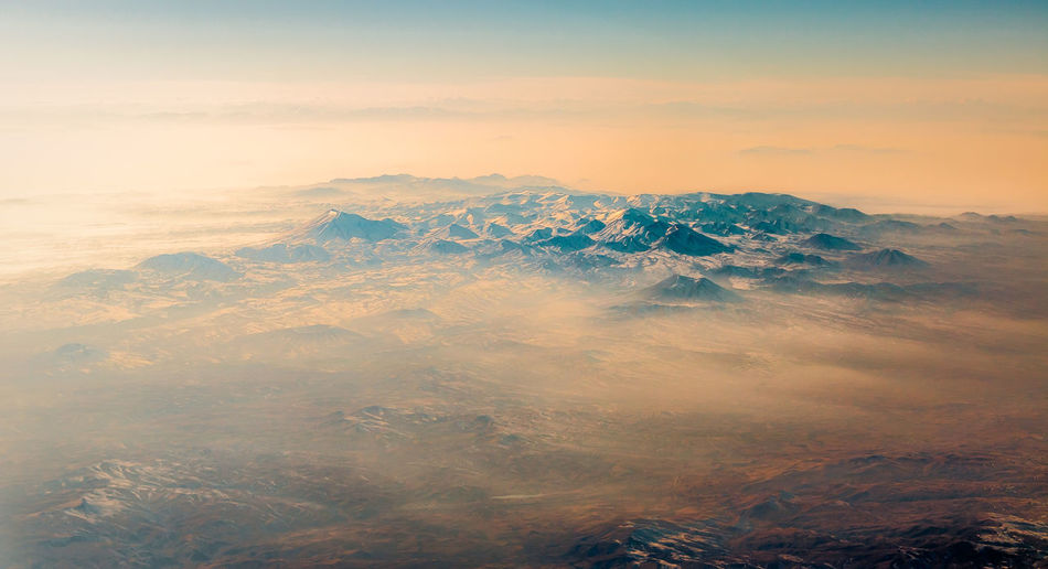 Above the cloud Flying High Landscape_Collection Aerial View Beauty In Nature Cloud - Sky Day Flying Idyllic Landscape Nature No People Outdoors Physical Geography Scenics Sky Sunset Tranquil Scene Tranquility