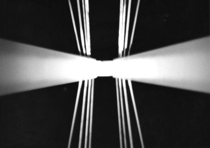 35mm Abstract Analogue Photography Black And White Black Background Bridge Conrast Light Up Monochrome Night No People Symmetry