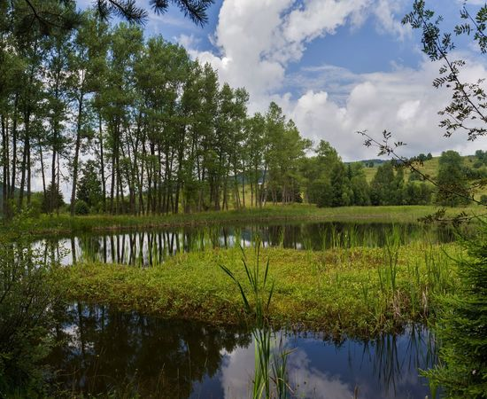 Chairski lakes in Rodopi mountain, Bulgaria. The paradise is on Earth. Calm Nature Plants Trees Cloud - Sky Day Grass Green Color Lake Landscape Mountain Outdoors Paradise Reflection Scenics - Nature Sky Summer Village Water