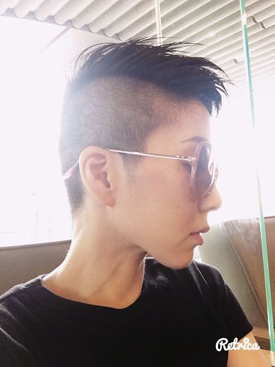 my favorite style💇 Hair Hairstyle Fauxhawk That's Me Take Photos Relaxing Haircut