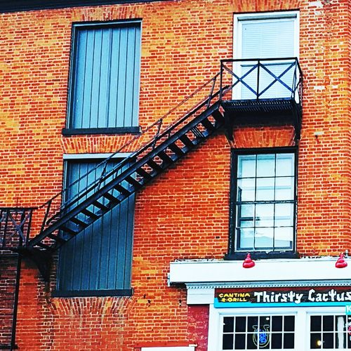 Very nice restaurant in Dundas Ontario. Building Exterior Architecture Built Structure Text Communication Outdoors Window Façade Neon Day Travel Summer Multi Colored Summer Travel Travel Photography Old Buildings Red My Country Steps Steps And Staircases Staircase Food And Drink