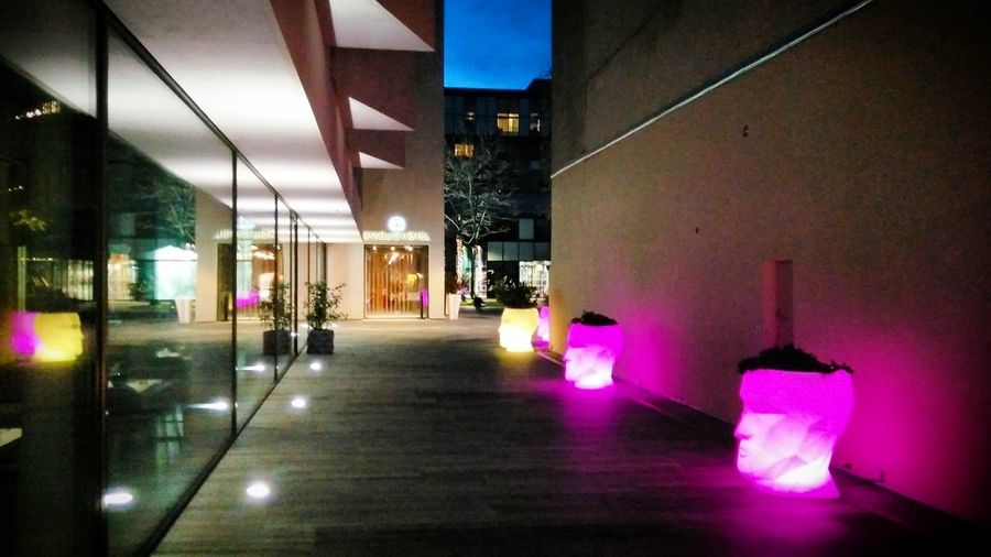 City Illuminated Architecture Built Structure