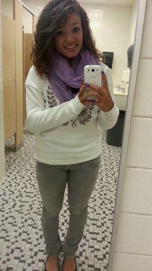 School Cheesin Curly Hair Cute♡