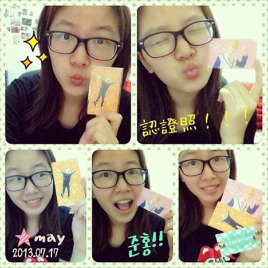 崔準烘小卡認證照,真的真的真的真的可愛到地牛翻身了啦 BAP Choijunhong Love Cutie pic instagram instapic instadaily instatoday Asiangirl 2013 life Taiwan Taipei