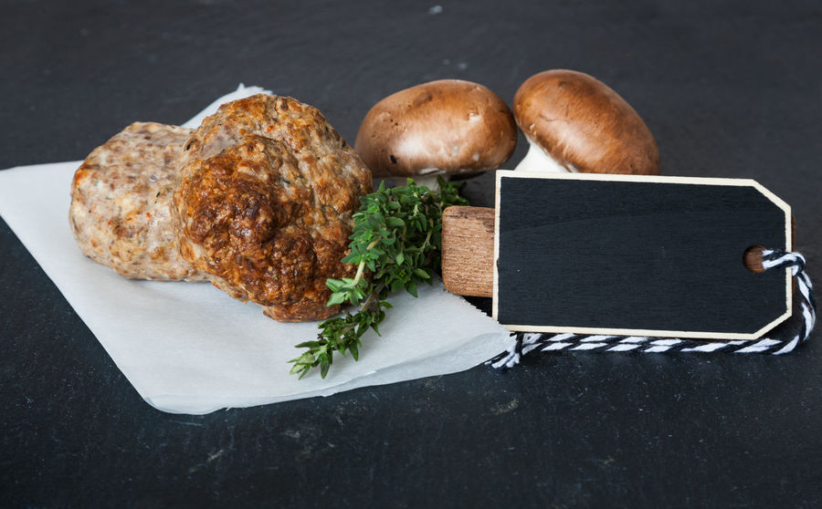 Fresh made meatballs Copy Space Ground Meat Meatballs Snack Blank Space Butcher's Trade Butchery Food Food And Drink Freshness Meat Mince Mincemeat Nutrition Slab Of Slate Slate Text Space