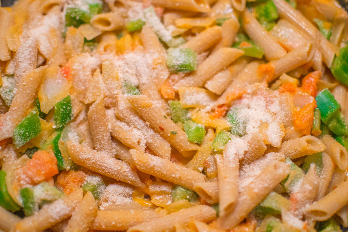 Vegetarian Pasta with grated parmesan Capsicum Close-up Food Food And Drink Fresh Freshness Freshness Full Frame Grated Cheese Grated Parmesan Indoors  Italian Food No People Parmesan Pasta Pasta Penne Penne Plated Ready To Eat Ready-to-eat Serving Size Tomato Sauce Tomatoes Vegetarian