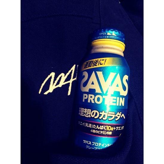 ⋆ ⋆ Workout?終了〜? ⋆ マイプロテインを忘れたので SAVASを試飲( ^ ^ )/□ ⋆ #Workout#realfit