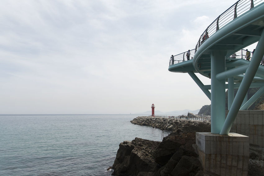 """famous seaside called """"Badabuchaegil"""" at Jeongjdongjin in Gangreung, Gaongwondo, South Korea Badabuchaegil Gangreung Jeongdongjin Architecture Beauty In Nature Built Structure Close-up Day Horizon Over Water Nature No People Outdoors Scenics Sea Seaside Sky Tranquil Scene Water"""