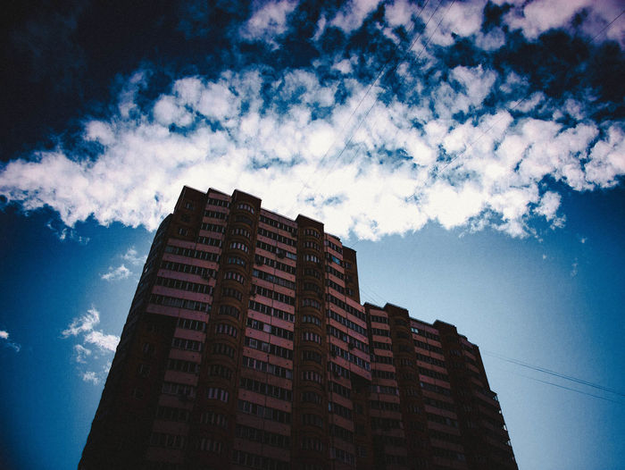 Low Angle View Architecture Sky Skyscraper Built Structure Cloud - Sky Building Exterior No People Outdoors Night Travel Destinations Pixelated Modern Nature Grass Animals In The Wild Dog