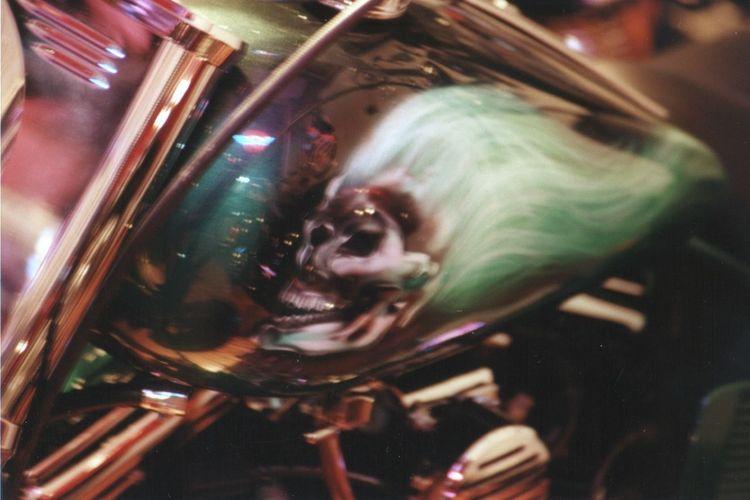 Show bike Reflections ☀ Bad Biker Bike Artwork Bike Chrome Bike Life Close-up Custom Bikes Scary Stuff