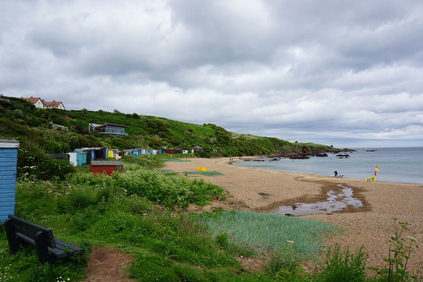 Sea Beach Cloud - Sky Dramatic Sky Landscape Vacations Nature Horizon Over Water Sand Beauty In Nature Tranquil Scene Hill Scenics Tourist Resort Tranquility Day Water Outdoors Sky Awe Coldingham Bay Scotland Scottish Borders