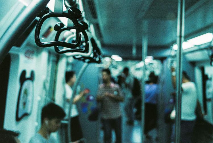 City City Life Film Film Photography Indoors  Nikon Nikon F3 Subway