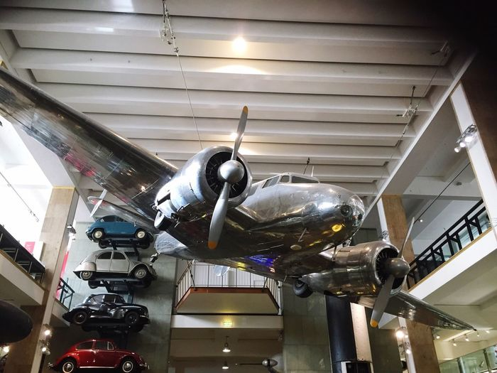 Lockheed Electra Aero Plane at the Science museum in London Plane Aeroplane Lockheed Electra Silver  Science Museum  Museum