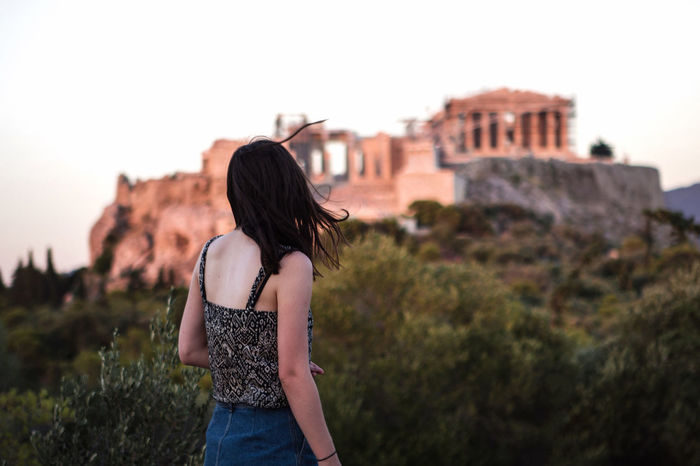 Athens, Greece VisitGreece Acropolis, Athens Parthenon Girl View EyeEm Best Shots Sunset Faces Of Summer The EyeEm Facebook Cover Challenge