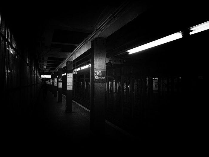 36 Art Dark Metro Station
