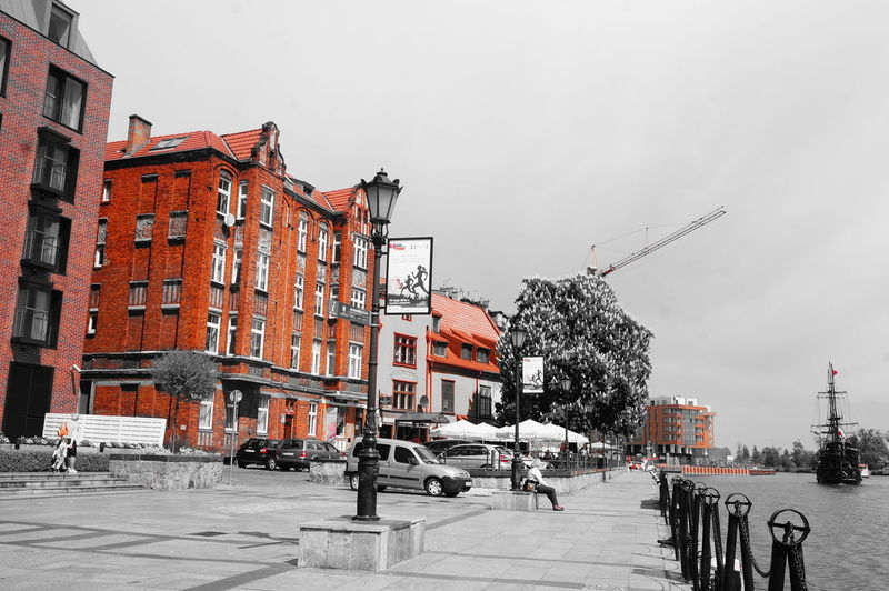 Architecture Building Exterior Built Structure City Day Gdansk Gdansk,poland No People Outdoors Sky Street