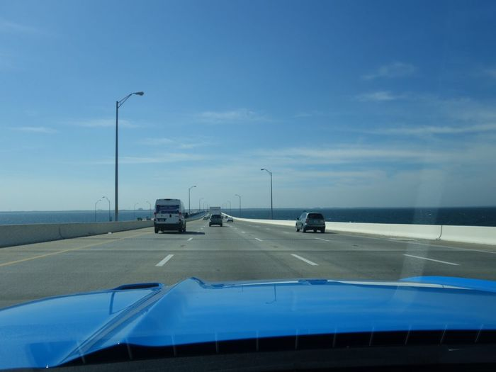 2017 Mustang GT , Tampa Car Transportation Sky Land Vehicle Mode Of Transport Road Car Point Of View No People Cloud - Sky Day Outdoors Howard Frankland Bridge
