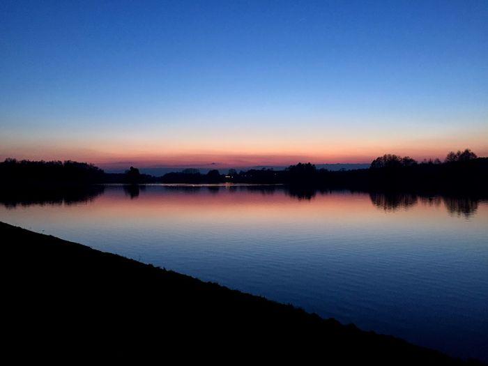 Lake Sunset Trees Forest Likeforlike Like4like Followme Follow4follow Follow Blue Wave