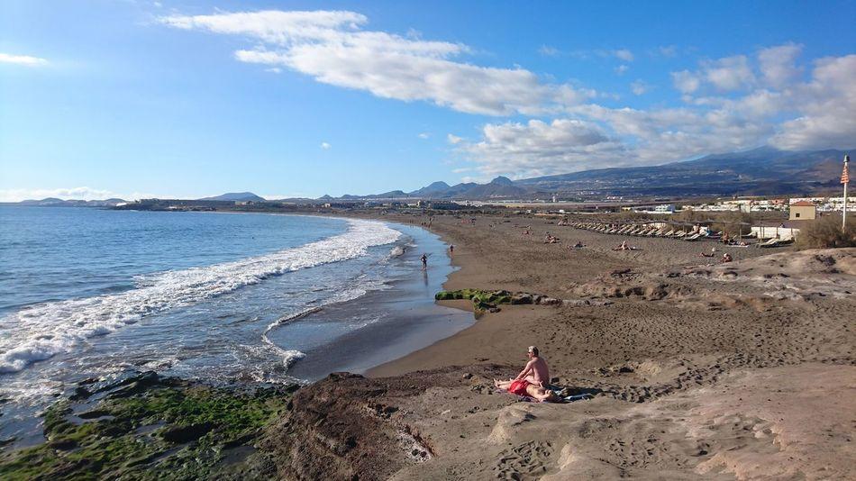 Sea Beach Outdoors Sand Vacations Nature Cloud - Sky Water Landscape Wave Sky Scenics Day Love Spain Tenerife España Tenerife Island Tenerife Spain♥