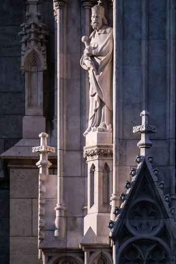 Stoic Mathias Church Hungary Budapest EyeEm Selects Architecture Built Structure History Sculpture Building Exterior Place Of Worship Religion Travel Destinations Statue Art And Craft Building Representation Spirituality Human Representation Outdoors Belief