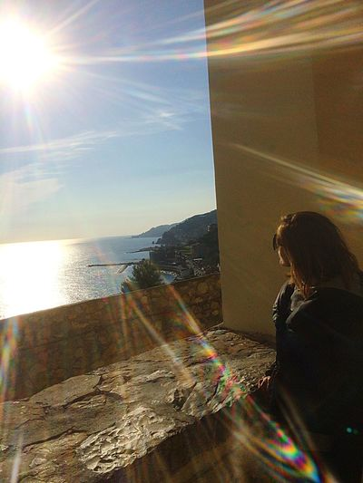 Capture The Moment Enjoying The Sun Sunshine Horizon Over Water Twilight Sky Meditation