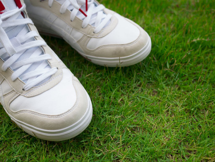 White shoes on field