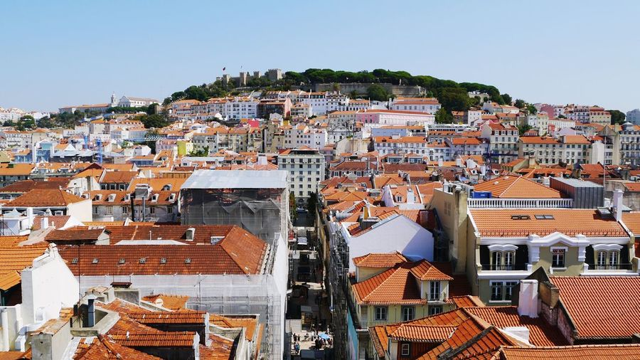 Cityscape Travel Destinations Architecture City Sky Roofs And Towers Rooftops Outdoors View From The Top View From Above Architecture Building Exterior Lisbon, Portugal Lisbao Cityscape Lisbon Roof Red Roofs Lisbon - Portugal Lisbon From Above Castle View  Cityscapes Old Town Old Town View Been There. Stories From The City