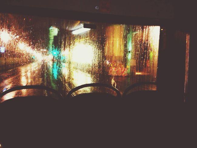 Nightbus Berlin By Night Nightphotography Rain