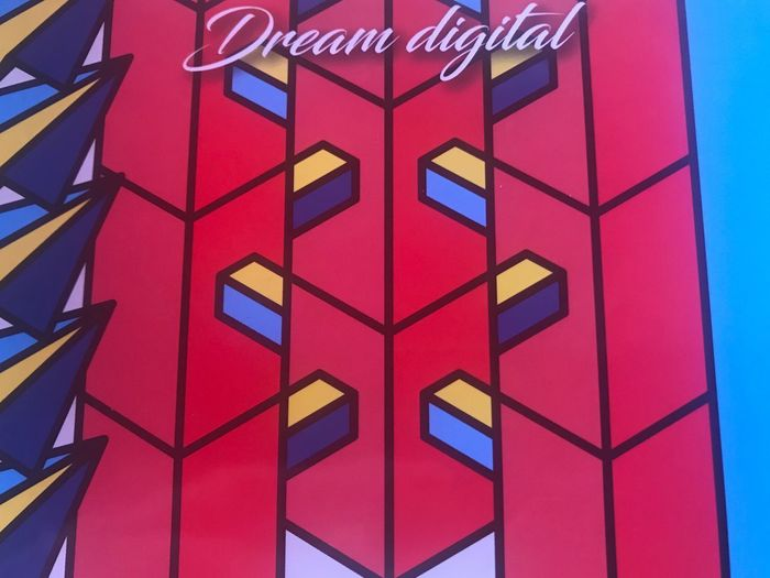 Dream digital Full Frame Red Multi Colored Pattern Architecture Built Structure No People Day Low Angle View Backgrounds Building Exterior Building Wall - Building Feature Geometric Shape Close-up Design Outdoors Window Shape Blue