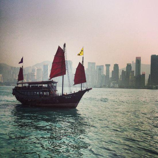 Cantonese Chinese Cityscape Culture EyEmNewHere Hong Kong Hong Kong Culture Junk Ship Skyscraper Travel Travel Destinations Urban Skyline Water