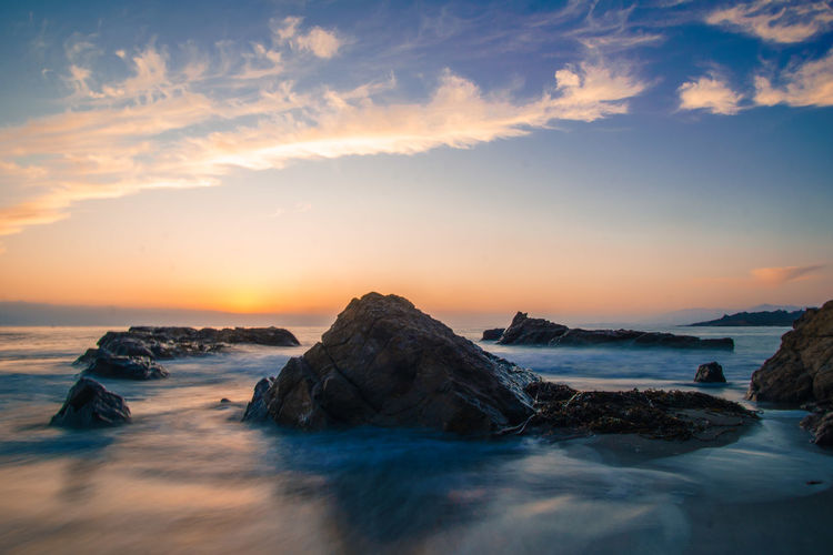 Beach Beauty In Nature Day Horizon Over Water Iceberg Nature No People Outdoors Rock - Object Scenics Sea Sky Sunset Tranquil Scene Tranquility Water
