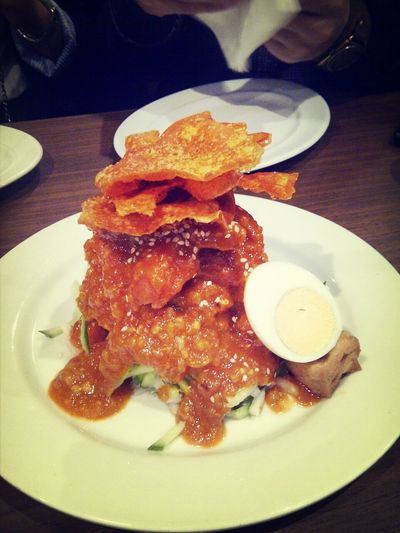 Rojak Salad! Malaysian Food Eating Dinner Trying Something New