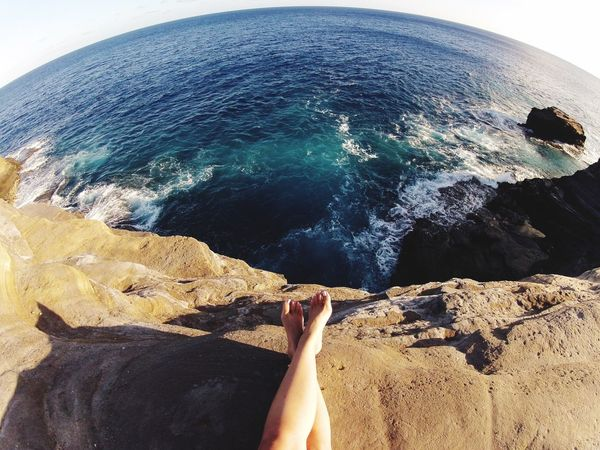Cliff jumping anyone? Cliffs Hawaii CliffJumping Nature On Your Doorstep Holiday POV Barefoot