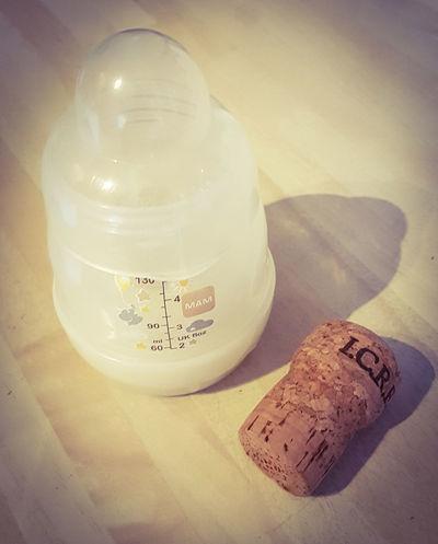 Baby Bottle No People Close-up Indoors  Baby Cork Wine Wine Not