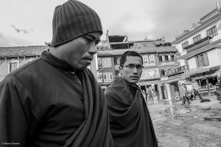 Tibetan monk in Katmandu - Nepal