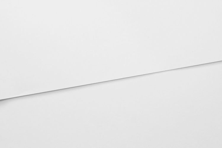 Copy Space Indoors  No People White Background Studio Shot White Color Paper Close-up Backgrounds High Angle View Full Frame Wall - Building Feature Single Object Cut Out Geometric Shape Built Structure Empty Blank