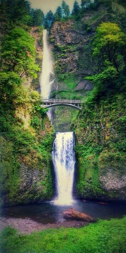 Multnomah Falls  Beautiful Waterfall Oregon Waterfalls Oregon Waterfall_collection